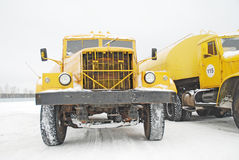 Old yellow truck Royalty Free Stock Photos