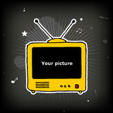 Old yellow TV Royalty Free Stock Photos