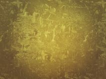 Old yellow wall paper abstract design background Royalty Free Stock Image