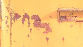 Old yellow wall with rusty spots. abstract background royalty free stock photos