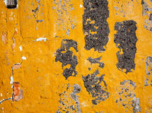 Old yellow wall texture Royalty Free Stock Images