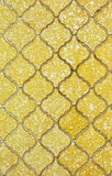 Old yellow wall tile background Stock Photography