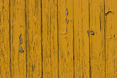 Old yellow wood plank surface Stock Photo