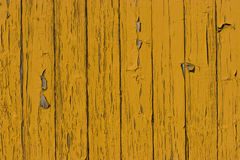 Old yellow wood plank surface Stock Photos