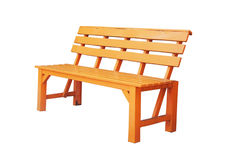 Old yellow wooden bench Stock Photos