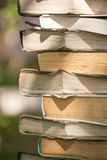 Old yellowed books Royalty Free Stock Photo