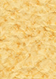 Old Yellowed Crinkled And Dappled Paper. Marbled Royalty Free Stock Photography