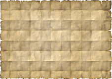 Old yellowed folded paper. Old yellowed and folded paper vector illustration
