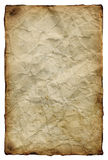 Old yellowed paper Royalty Free Stock Image