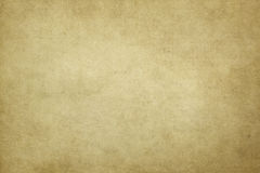 Old yellowed paper texture. Aged and yellowed paper background or texture for the design Royalty Free Stock Photos
