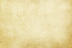 Old yellowed paper texture. Aged and yellowed paper background or texture for the design Royalty Free Stock Photography