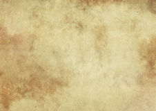 Old yellowed paper texture. Grunge style. Royalty Free Stock Photo