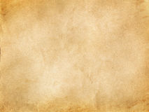 Old yellowed paper texture. Royalty Free Stock Photography