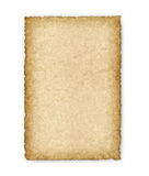 Old yellowed sheet of paper Stock Image