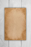 Old yellowed sheet of paper Royalty Free Stock Photo