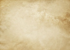 Old yellowed and spotted paper texture. Stock Images