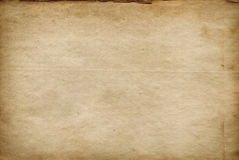 Old yellowed and stained paper texture. Royalty Free Stock Images