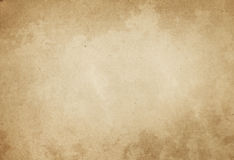 Old yellowed and stained paper texture. Stock Images