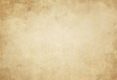 Old yellowed and stained paper texture. Royalty Free Stock Photo
