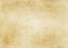 Old yellowed and stained paper texture. Royalty Free Stock Photos