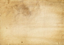 Old yellowed and stained paper texture. Royalty Free Stock Photography