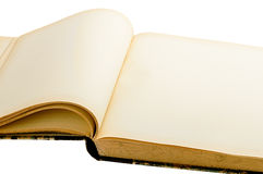 Old yellowing empty book Royalty Free Stock Images