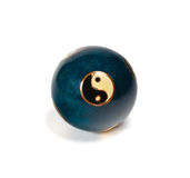 Old yin yang chinese ball for relaxation Royalty Free Stock Image