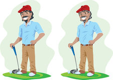 Old and young Golfer Royalty Free Stock Photography