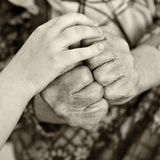 Old and young hands Royalty Free Stock Photo