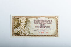 Old Yugoslavia banknotes money Royalty Free Stock Photo