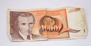 Old yugoslavia  dinars,  paper money. Picture of a Old yugoslavian dinars,  paper money Royalty Free Stock Image