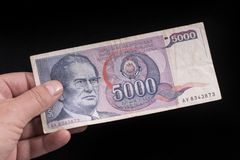 An old Yugoslavian banknote Royalty Free Stock Photos