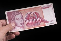 An old Yugoslavian banknote Stock Photography