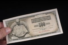 An old Yugoslavian banknote. A old Yugoslavian 10 Dinars banknote Stock Images