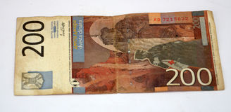 Old yugoslavian dinars,  paper money. Picture of a Old yugoslavian dinars,  paper money Stock Photography