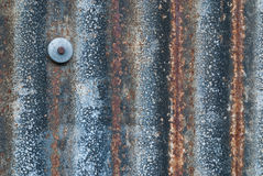 Old Zinc plate with a nail Royalty Free Stock Photography