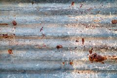 Old zinc roof, rusty metal wall background stock images