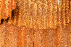 Old zinc rust wall. Royalty Free Stock Photos
