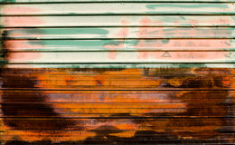 Old zinc. rusty corrugated metal wall texture background Royalty Free Stock Images