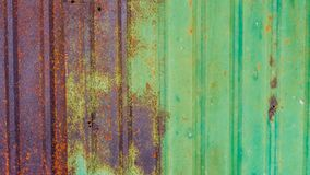 Zinc sheets. Old zinc sheets texture background, rusty on galvanized metal surface royalty free stock photo