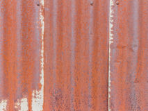 Old zinc texture,rusty corrugated iron metal Royalty Free Stock Photo