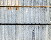 Old Zinc wall background Stock Images