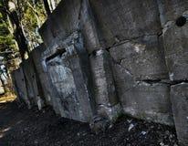 Oldbunker. Forgotten rockwall bunker kaboom stock photography