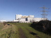 Oldbury nuclear power station on the River Severn Stock Photography