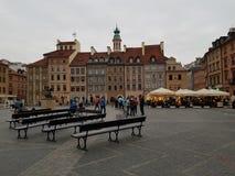 Oldcityoriëntatiepunt van Evropewarshau Polen royalty-vrije stock fotografie