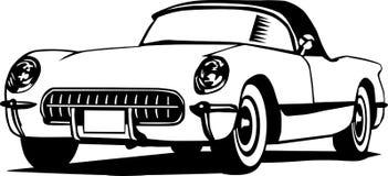 Oldcorvette Lizenzfreie Stockfotografie