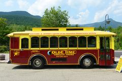 Olde时间台车游览, Mt华盛顿,新罕布什尔 免版税图库摄影
