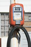 Olde garage air pump Stock Image