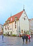 Olde Hansa restaurant building in the Old city of Tallinn Stock Photos