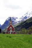 Olden Church, Norway Stock Photo